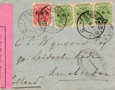 Guerre des Boers Afrique du Sud Loi martiale CENSOR Cover Johannesburg à Amsterdam 1901