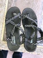 Skechers Outdoor Lifestyle Women's Sandals Size 7 Black & Gray