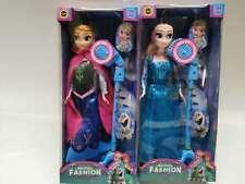 Frozen Anna Elsa figurine doll with microphone