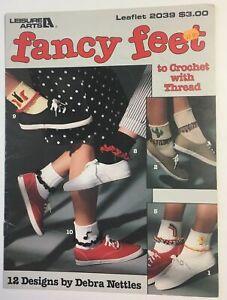 CROCHET Pattern Booklet~ Fancy Feet to Crochet with Thread, Rainbow Socks etc