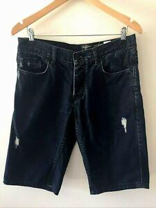 Industrie Men's Distressed Denim Shorts Size 30 Cotton Blue Regular Fit