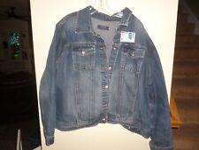 IZOD 2X Womans Jeans Denim Jacket  Unisex Plus Size