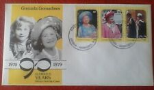 First day of issue, 1979 Grenada / Grenadines- 90th Birthday HM Queen Elizabeth