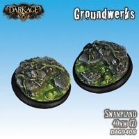 Dark Age: Groundwerks Base Inserts - 40mm Swampland (2) - DAG9408