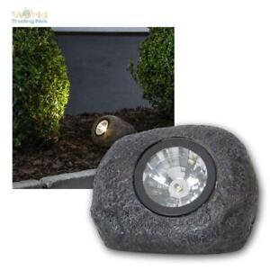LED Solar Stein-Leuchte ROCKY Solar-Lampe Steine Garten Weg-Strahler warmweiß