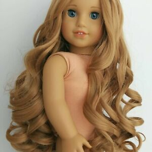 """American girl doll wig NEW Caramel, size 10-11"""" Never used"""