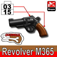 Overmolded M365 (W168) Revolver Pistol toy compatible with toy brick minifigures