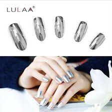 Silver Mirror Effect Metal Nail Polish Varnish Top Coat Metallic Nails fashion