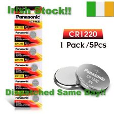 CR1220 BR1220 DL1220 ECR1220 PANASONIC 3V Lithium Batteries Coin Battery 5Pcs