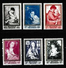 Belgium 1961 Mother and Child Semi Postal Sc# B699-B704 Mnh Mint/Never Hinged
