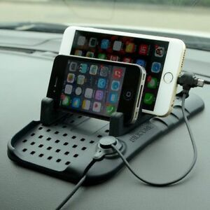 Multifunctional Magnetic Charger Silicone Anti-Slip Mat Navigation Mobile Holder