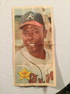 Topps 1968 Baseball Poster, Hank Aaron #14 of 24