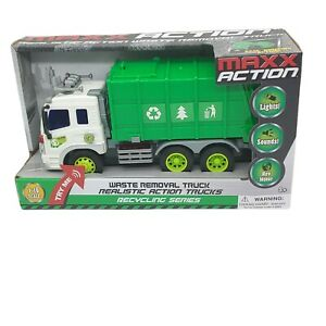 Maxx Action Realistic Action Waste Removal Truck - Lights, Sounds, Revving Motor
