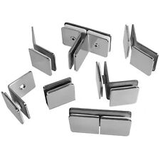 8er 304 Edelstahl Glashalter Glasklemme Flach Anschluss Klemmhalter 8-10mm Halter Kit