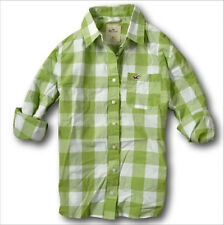 NWT Hollister by Abercrombie&Fitch Women's Easy Plaid Shirt Grey/Red/Blue/Green