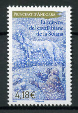 French Andorra 2019 MNH Legend of White Horse of Solana 1v Set Horses Stamps