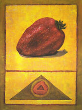 Rhanavardkar Madjid Erdbeere handsigniert Poster Kunstdruck Bild 80x60cm