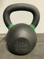 Cast Iron Kettlebell  24KG (53LB) Weight Workout Home Gym NEW IN THE BOX