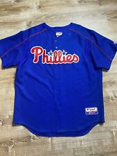 Vintage 90's Philadelphia Phillies Majestic Jersey SZ XL Sewn Patch Made In USA