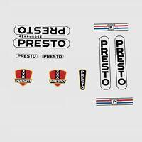 Presto Calcamonías para bicicleta, Transfers, ADHESIVOS N.100