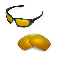 New Walleva Polarized 24K Gold Replacement Lenses For Oakley Scalpel Sunglasses