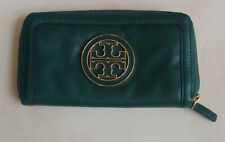 Authentic Tory Burch Long Green Continental Wallet in EUC!