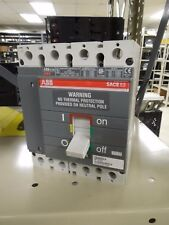 ABB SACE S3 S3N 150A 4P 600V Circuit Breaker W/ Auxiliary Switch Used