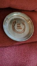 BULL INTHE HEATHER HORSESHOE PLATE BY POTTERY ROWE - OLD FRIENDS - CHARITY
