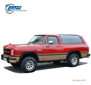 """Paintable Extension Fender Flares 81-93 Fits Dodge D250 6'5"""" and 8' ; Ramcharger"""