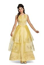 Disney Belle Beauty and The Beast Movie Deluxe Adult Halloween Costume Ball Gown