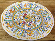 1 Yellow Rooster Salad Plate Le Cadeaux Melamine Great Quality Plastic French