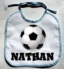Personalized Monogram Custom Soccer Baby Boy Bib Shower Gift Keepsake bibs