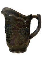 Stunning Imperial Grapes Carnival Glass Pitcher - Imperial Amethyst Lenox 1955