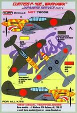 KORA Decals 1/72 CURTISS P-40E WARHAWK Captured Japanese Aircraft Part 2