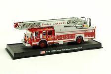 Giant Fire Truck E-One Rear Mount Ladder -1990 L 23 USA Diecast Model 1/64 No 15