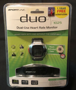 New SportLine Duo 1025 Women's Dual Use Heart Rate & Calorie Monitor Watch