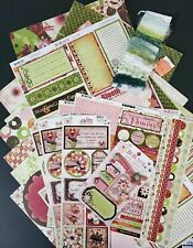 C6 Bo Bunny Mom Knows Best HUGE Scrapbook Lot 15-12x12 Pages Stickers Chipboard