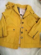 AUTHENTIC Burberry Kids Yellow Rain Slicker w/ Snap-on Hood - 4Y