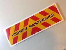 1/14 REFLECTIVE SIGN for TIPPER REBUILDING PROJECTS or WEDICO, BRUDER
