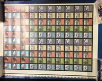 Magic the Gathering ARENA Uncut 100 Card Sheet MTG (RARE 1996)