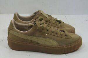 Puma Suede Platform Core Shoes Oatmeal/Whisper White 363559 03 WOMEN size  7.5