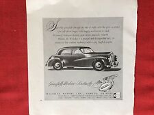 m2p ephemera 1950s advert wolseley motors ltd cowley oxford