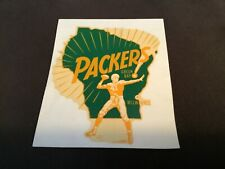 Vintage 1960's Green Bay Packers Sticker Decal