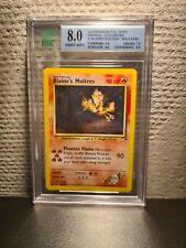 Pokemon - Blaine's Moltres 1/132 - Gym Heroes - 8 MNT Graded - PSA?