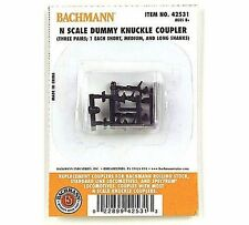 N SCALE BACHMANN DUMMY KNUCKLE COUPLER VARIETY PACK #42531 THREE PAIR