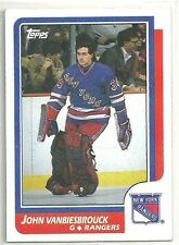 John Vanbiesbrouck 1986-87 TOPPS New York Rangers ROOKIE RC Card #9