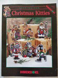 Dimensions Todd Trainer Christmas Kitties Plastic Canvas Ornament Pattern Lot81