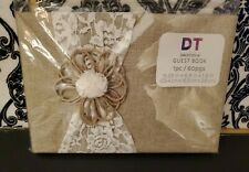 One David Tutera Guest Book - Rustic Burlap Lace Twine Wedding 60 Pages New