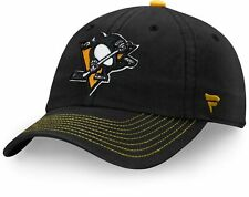 Pittsburgh Penguins NHL Men's  Fundamental Black Adjustable Hat - NWT