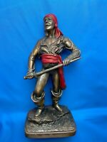Attractive Metal Sword Wielding Pirate Statue Decorative cira  1920s